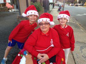 Mom and Kids Christmas Run